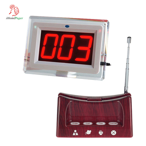 Restaurant and cafe cheap guest calling service system display receiver and button with menu holder