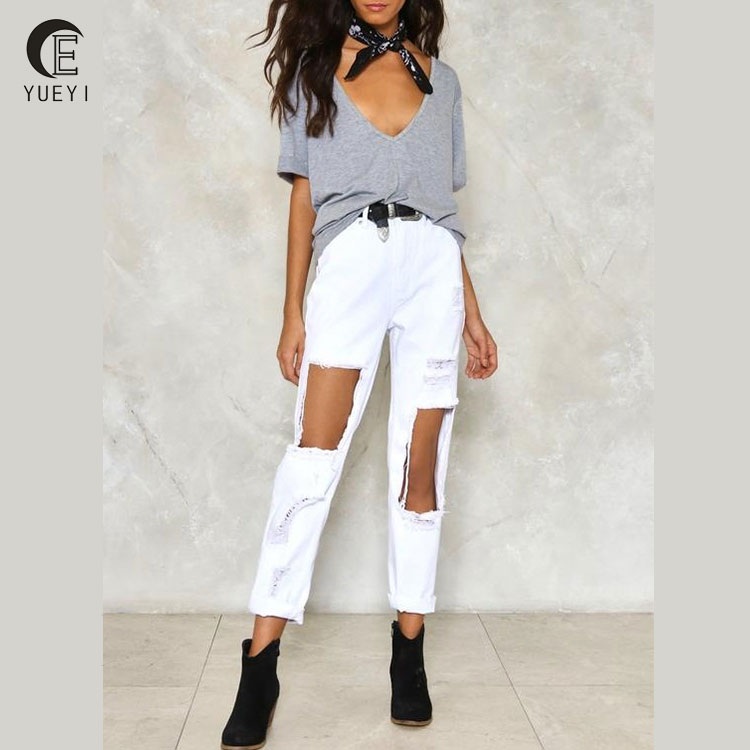 buy white distressed jeans women in bulk