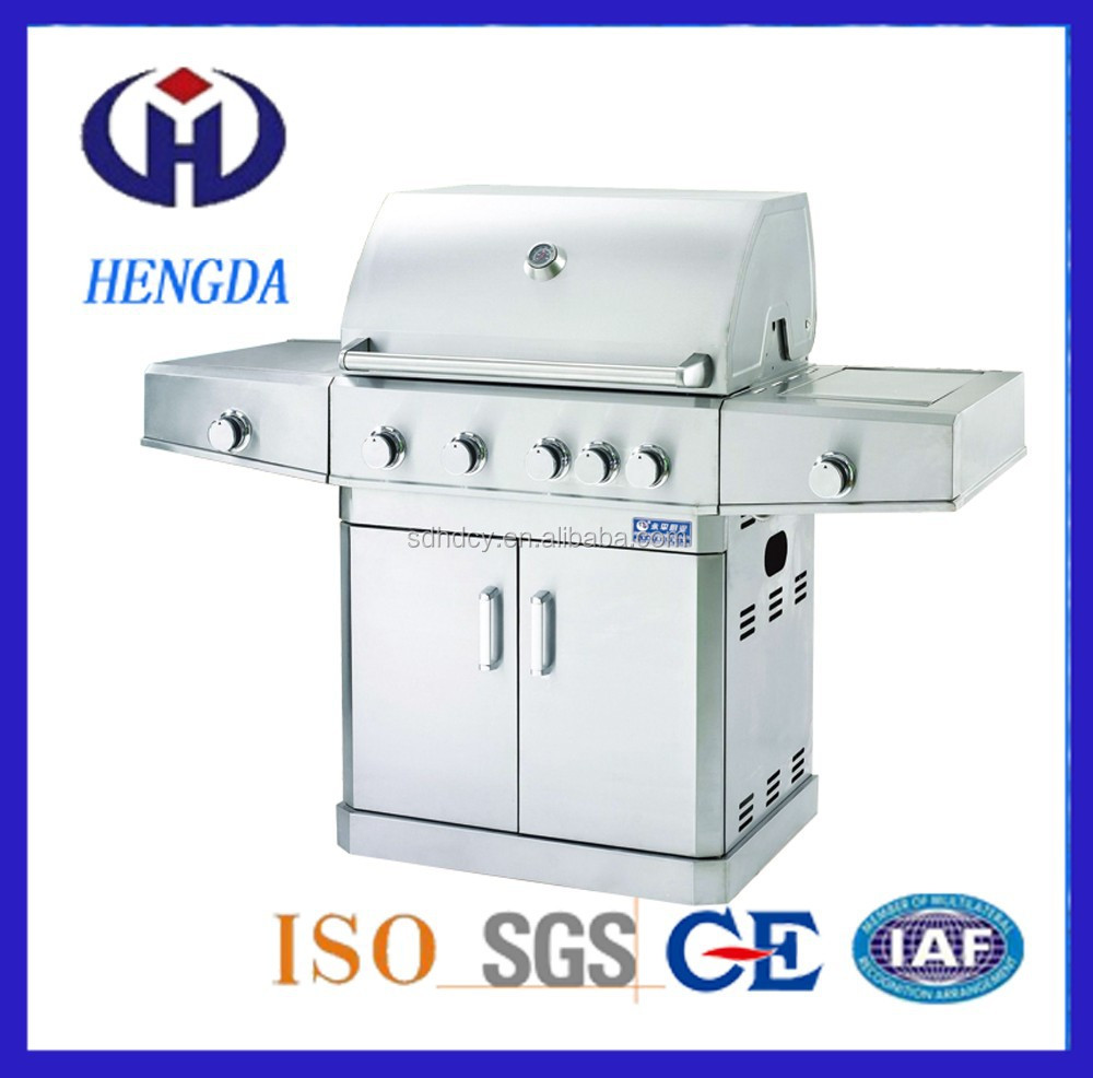 Stainless Steel Weber Gas Barbecue Grill with 5 mian burner +2 burner Gas grill