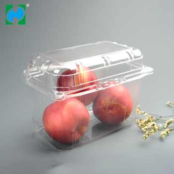 Custom Disposable Plastic Food Fruit Packing Punnet Box Container