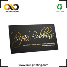 Garment making gold foil embossed calling printing business cards