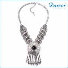Fashion Necklace Pendant Women 2016 Neck Choker Jewelry Collar Collier Femme Bib Vintage Statement Jewel Crystal Coin Tassel
