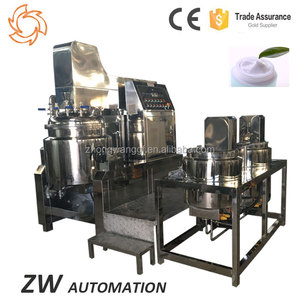 High Speed Homogenizer Cream 500L Vacuum Emulsifier Mixer