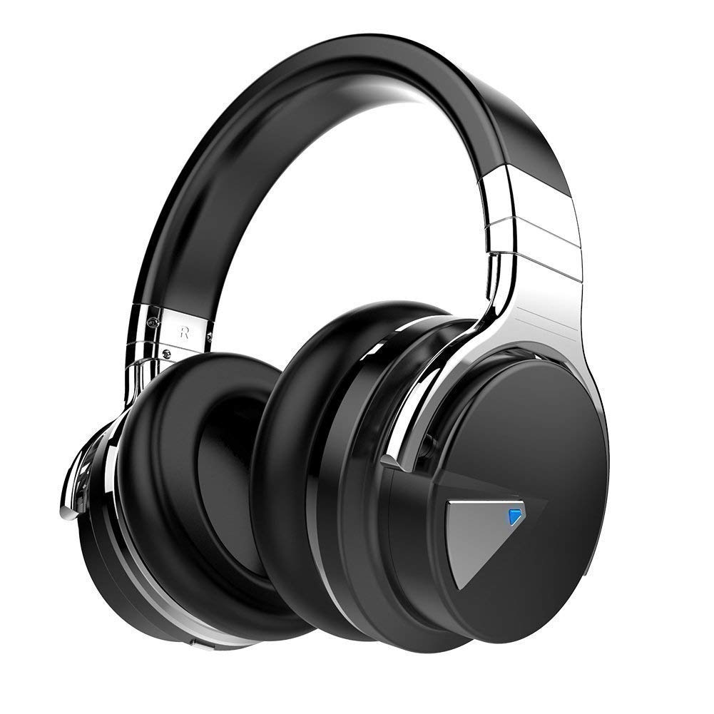 M.E.R.A. Bluetooth Headphones, Active Noise Cancelling Headphones, Microphone Hi-Fi Deep Bass Wireless Headphones Over Ear, Comfortable Protein Earpads, 30H Playtime for Travel Work TV Computer IPhone