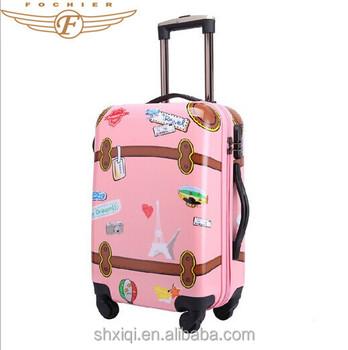 Summer Vacation Kids Travel Cartoon Trolley Bag