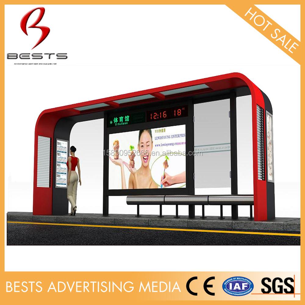 야외 새로운 디자인 현대 버스 정류장 쉼터 디자인 대기실-기타 ...