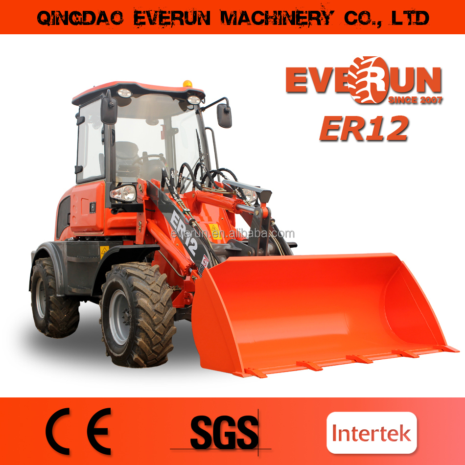 ER12 Mini Wheel Loader with Quick Hitch for Sale