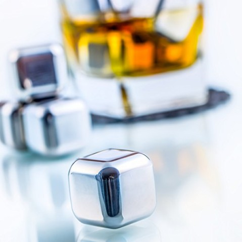 Amazon Hot Sale, Stainless Steel Whisky Stone, Reusable Ice Cube, LFK-IC01 фото