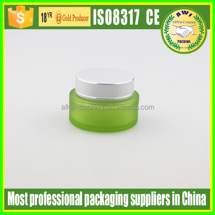 30g oval frosted glass jars/ cosmetic bottles