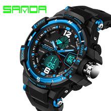 SANDA Homens Relógio G Estilo de Moda À Prova D' Água LED Esporte Militar Relógios Analógico Quartz Digital Watch relogio masculino Dos Homens de Choque