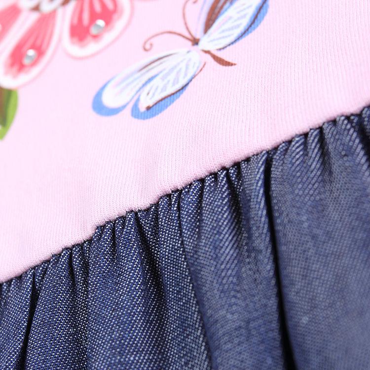 חצאית שמלת בנות נובה פרחוני התינוק שמלת ילדה ילד ילדה האביב מסיבת שמלה מזדמן Roupa Infantil H5803