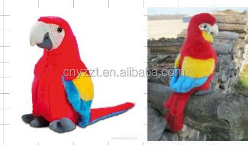 new design toys 2016 lovely blue parrot stuffed toy plush parrot/Factory price red custom plush toy parrot