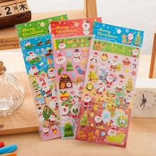 Christmas Santa Puffy Stickers