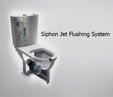 One Piece Siphon Jet Dual Flush Quiet Water Save Ceramic