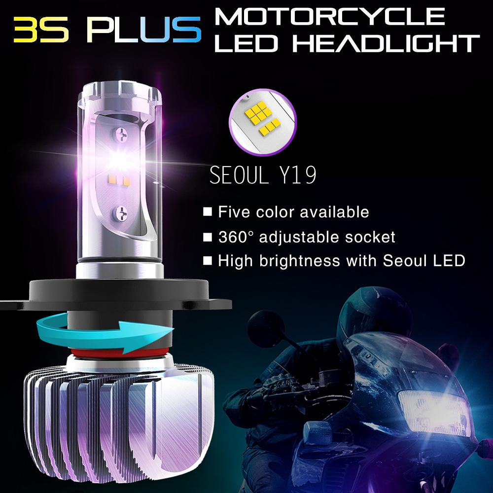 Motorcycle lighting system 360 Y19 CSP led chip H4 led lights motorcycle headlight
