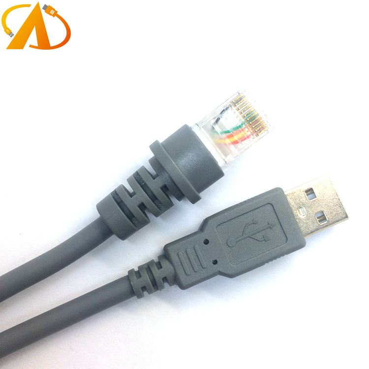 7ft 2M USB A male to RJ45 8P8C Cable for Symbol Barcode Scanner