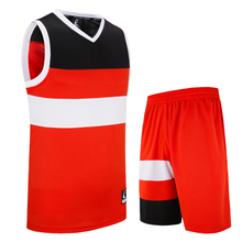 Männer Basketball Jersey Sets Rennen Uniformen Kits Sport Shirts Kleidung Quick Dry Basketball Trikots Set