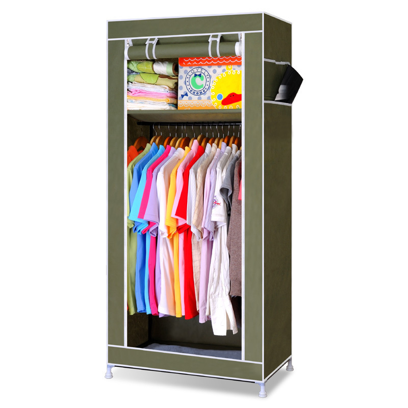 Free Shipping Fabric Samll Wardrobe Combination Capacity Bedroom Furniture DIY Clothe Wardrobe Storage Cabinet Portable Wardrobe