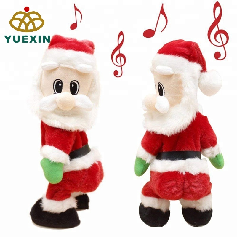 Responsible 1pc Xmas Plush Santa Claus Toy Singing Decorative Stuffed Light Up Glowing Toy Doll For Kids Christmas Gift Xmas Party Favors Real Life Plush