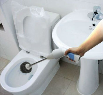 2 In 1 Automatic Electric Toilet Cleaner Brush, Rechargeable Batttory  Powered Toilet And Bathroom Use