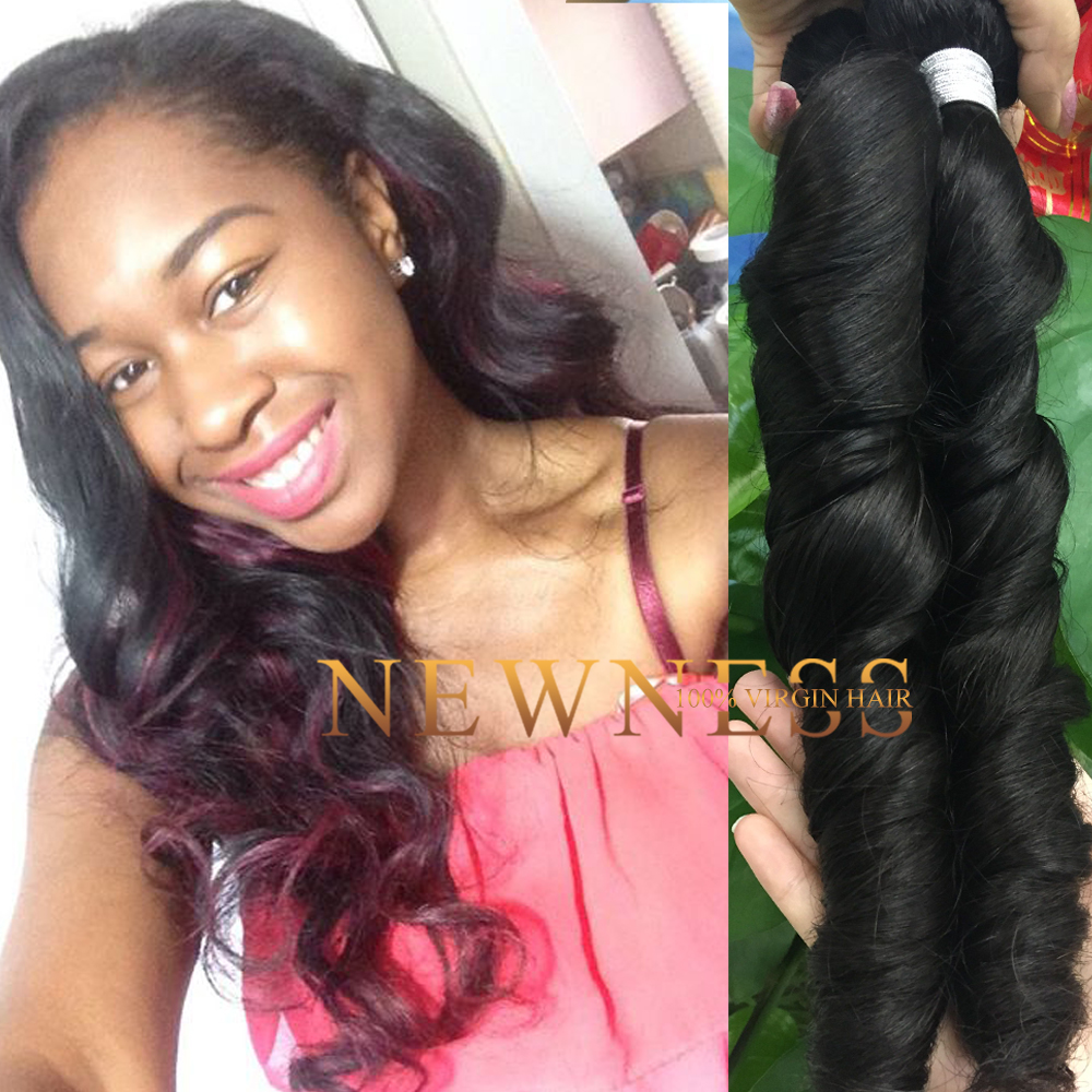 Newness Hair free hair weave samples frontal lace closure with bundles brazilian deep curl with frontal closure