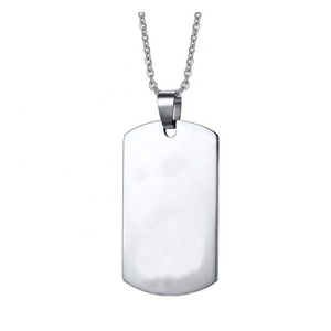 Factory direct custom sublimation blank stainless steel metal dogtag