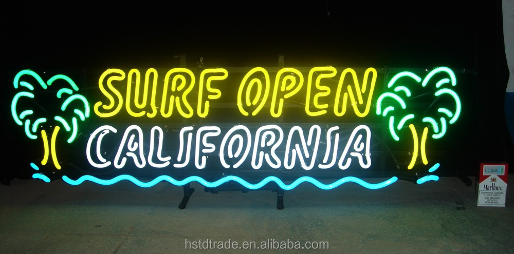super open california neon light custom neon light ,neon sign