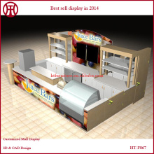 Indoor shopping mall 3d juice kiosk design with your demands/requirements/floor plan