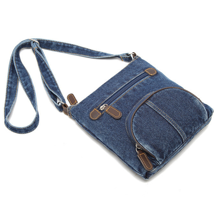 Women Canvas Messenger Bag Mini Shoulder Satchel Crossbody Denim Sling Bag