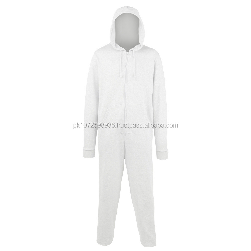 2017 wholesale adult onesie/blank onesie pajamas with zipper hoodie pocket