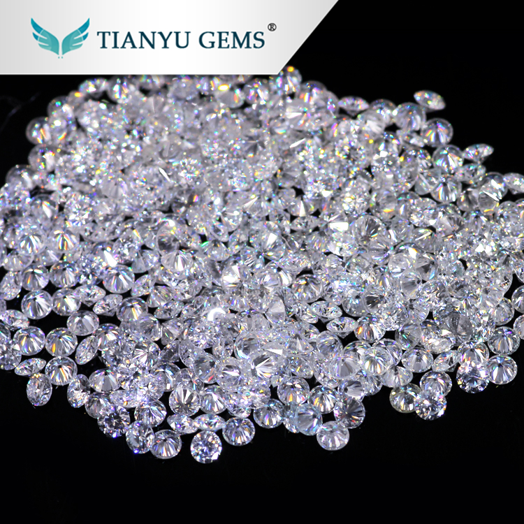 Tianyu Gems Wholesale Price Per Carat 0.8-3mm Excellent Cut White Melee Moissanite