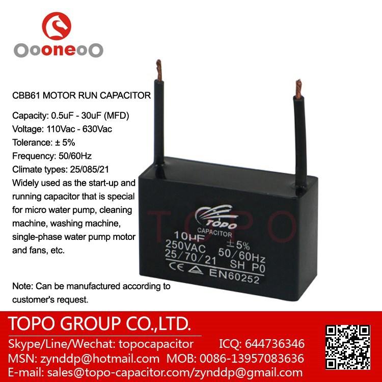 Hot-selling Capacitor 450vac Cbb61 2.5uf Ac Motor Capacitor For ...