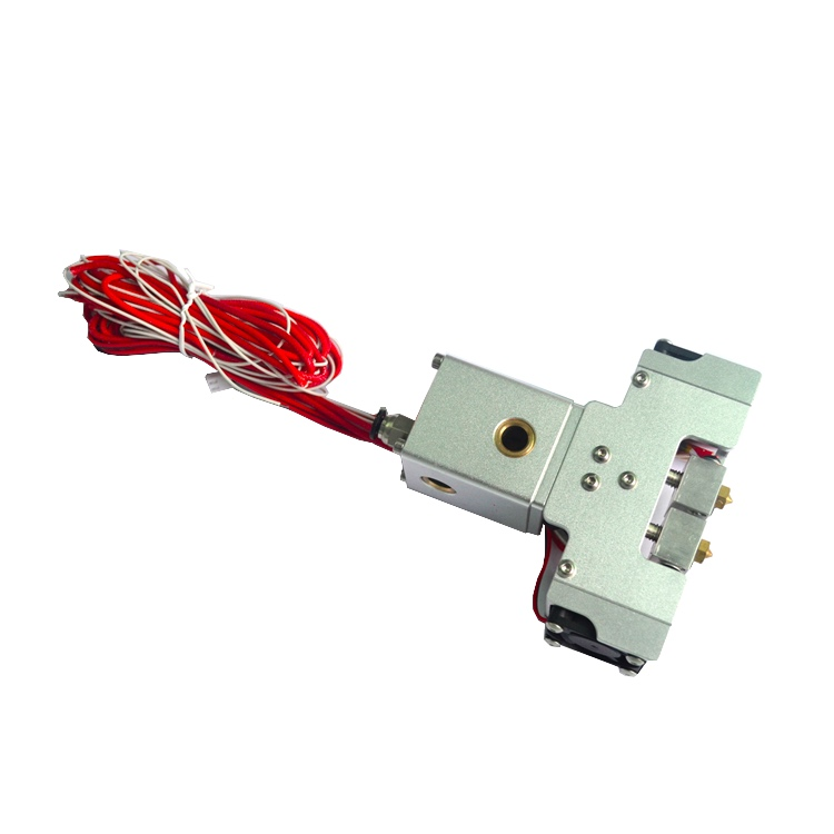 GIULY Ultimaker 2 + 3D printer Chimera Hotend Kit Dual Extruder 2 inlaat 2 Extrusie Hoofd Aluminium Extruder