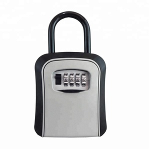Portable lock box key safe with long shackle realtor's lockbox with your own combinations