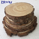 Wholesale Cheap Factory Price Natural Rustic Wood Tree Bark Log Slice,Tree Discs Trays with Custom Printing Logo