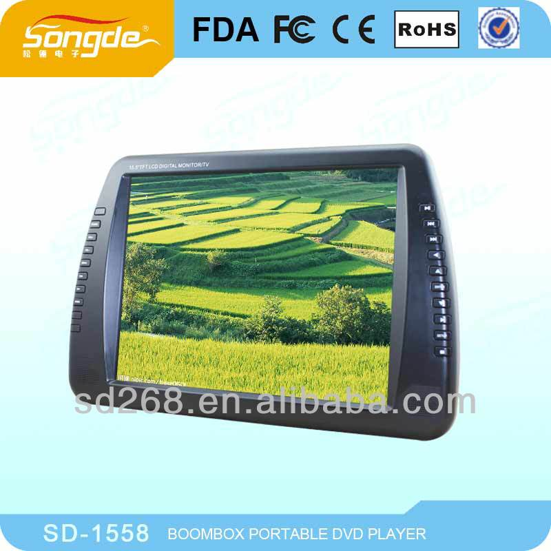 15 inch LCD screen portable dvd player, drop shipping
