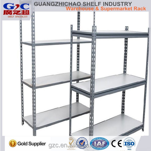 warehouse storage light duty angle iron board rack