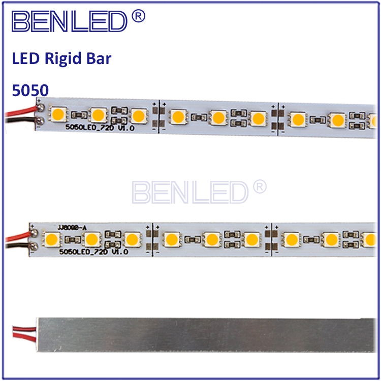 Hot 5050 DC12V 14.4W/M Rigid LED Strip With Aluminum Profiles