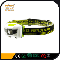 OEM Super Bright Customized Logo Lightweight Led Headlamp And Headlight With White And Red Light