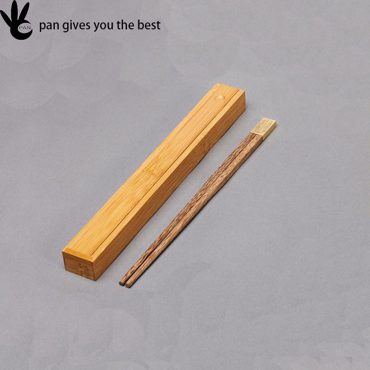 Wholesale Handmade Cheap Natural logo custom chopstick gift set