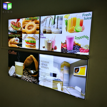 LED Light Box with Restaurant Fast Food Menu Board for