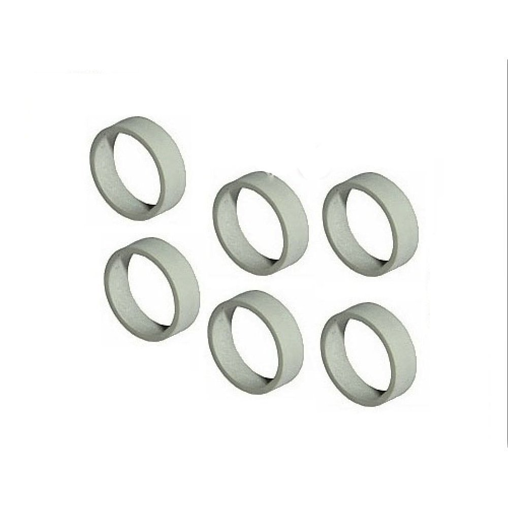 Lego Parts: Replacement Rubber Train Rims for 4.5v and 12v Locomotive Wheels (Service Pack of 6 - Gray)