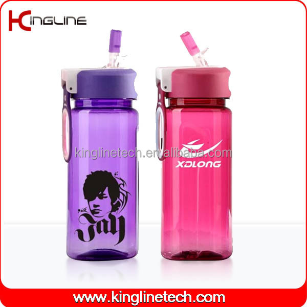 No leaking 600ml BPA Free plastic sports drink bottle OEM (KL-B1514)