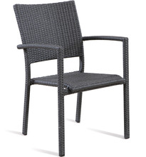 Good looking stackable rattan garden arm dining chair