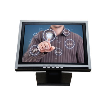 OEM Ture Flat LCD Touch Screen Monitor 15 Inch LED Capacitive Or Resistive Touch Monitor