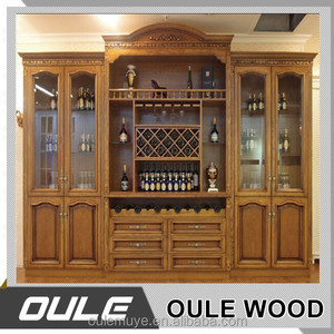 Factory Wholesale Price Modern Glass Wine Bar Cabinet