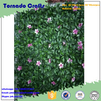 decorative artificial leaf hedge ivy green wall plant fence panels