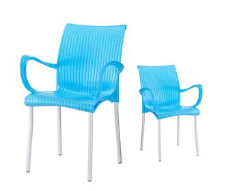 En Gros Pas Cher Empilable Chaise Dextrieur Plastique Fauteuils Avec Aluminium Pour
