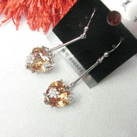 Newest Flower CZ Fashion Jewelry/Earrings and Rings