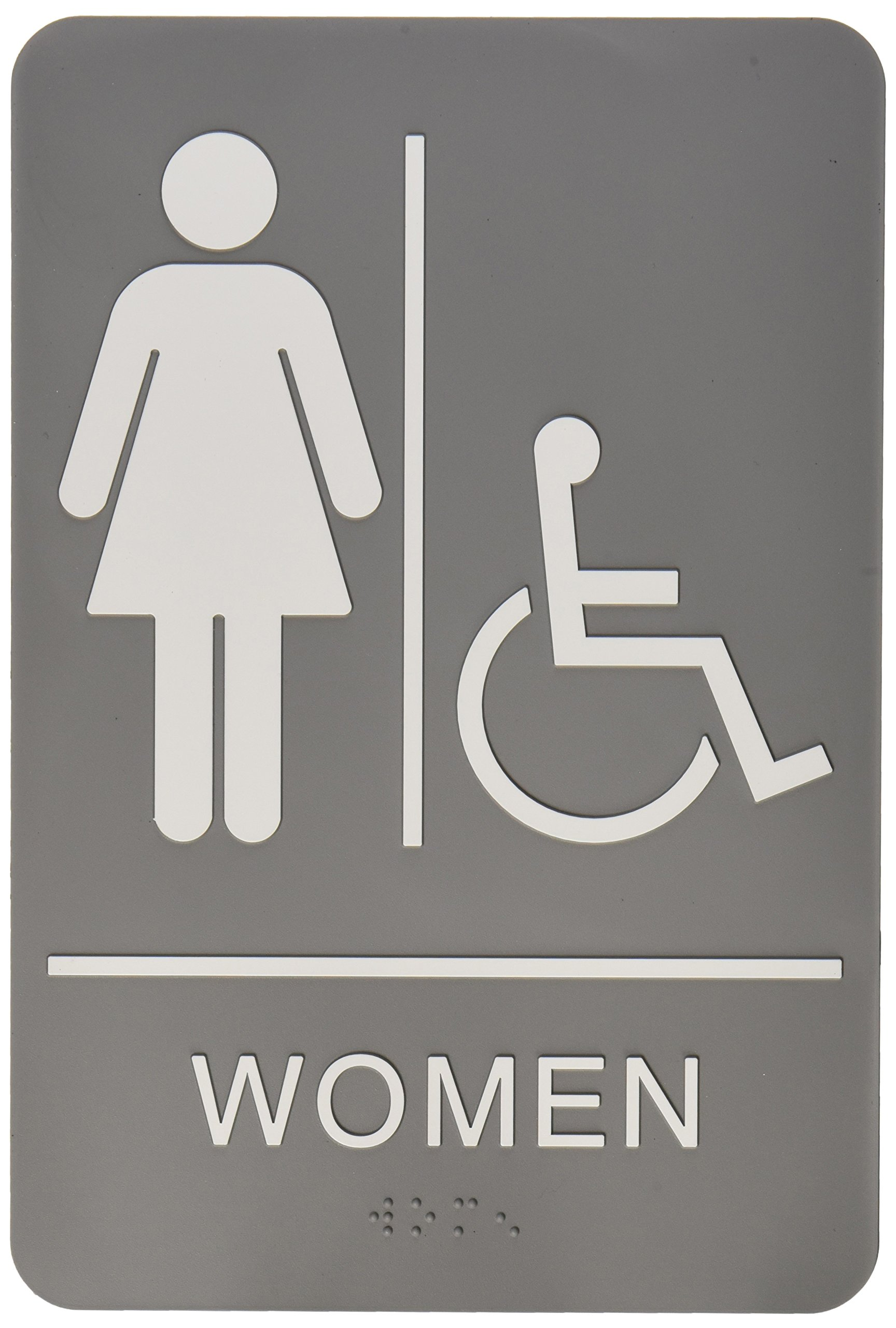 buy quartet ada restroom sign women wheelchair accessible symbol